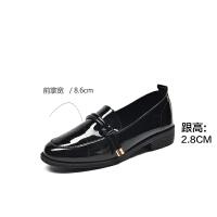 2019珂卡芙新款【耐看】时尚百搭复古女鞋舒适圆头粗跟女单鞋