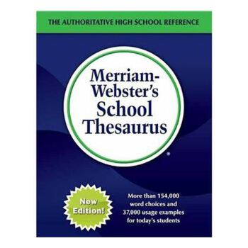 韦氏 Merriam-Webster's School Thesaurus