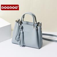 【支持礼品卡】DOODOO 手提包包女单肩斜跨包简约百搭斜挎包大容量女包潮 D7398