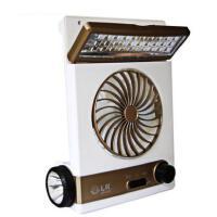 户外新款太阳能充电 风扇学生 宿舍台式蓄电池 简约风扇大风力便携户外帐篷灯
