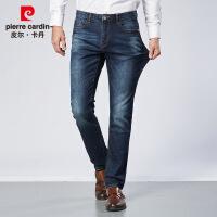 牛仔裤男秋季宽松直筒男裤青年男士休闲长裤厚款弹力裤子1820