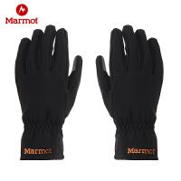 Marmot/土拨鼠2020新款户外防泼水休闲舒适男女M1软壳手套支持戴手套触屏