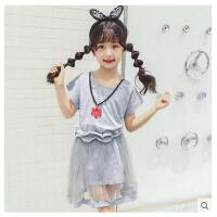 中大女童裙子套装女孩连衣裙童装夏装新款裙子韩版女童两件套可礼品卡支付