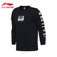 李宁卫衣男士BAD FIVE篮球系列套头衫长袖上衣秋季运动服AWDM371