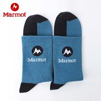 Marmot/土拨鼠男士户外出游吸湿透气渐进式针织袜