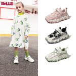 【3折价:149.4元】百丽童鞋2020秋季新款女童休闲户外鞋子中大童时尚老爹鞋