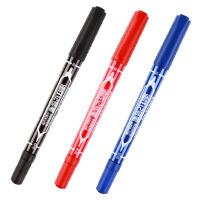 齐心记号笔 齐心MK804小双头记号笔 勾线笔 CD光盘笔 油性笔