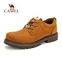 camel骆驼户外男款休闲鞋 秋冬新款 头层牛皮户外休闲鞋