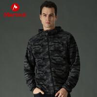 Marmot/土拨鼠运动户外男士运动保暖迷彩休闲开衫抓绒衣