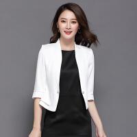 小西装女外套短款2018春装新款韩版修身显瘦百搭职业休闲女士西服
