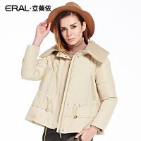 ERAL/艾莱依冬季修身韩版轻薄韩版羽绒服女短款长袖12032-EDAB