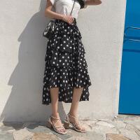 半身裙 女士新款波点半身裙2019夏季女式高腰多层蛋糕裙雪纺裙波西米亚长裙女装裙子