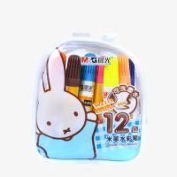 晨光文具水彩笔绘画笔学生儿童可洗米菲袋装12色FCP90149