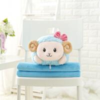 小绵羊抱枕被子两用靠垫汽车午睡休枕头被子大号办公室靠枕毯子