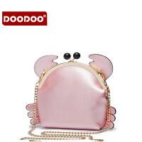 【支持礼品卡】DOODOO 夏天小包包可爱2017新款迷你链条包女斜挎包韩版单肩女包潮 D6230