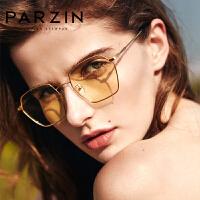 帕森2018新款防蓝光光学眼镜女金属方框时尚镜架男电脑眼镜162002