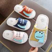儿童亚麻拖鞋男童家用春秋卡通室内地板亲子女童小孩宝宝拖鞋夏季