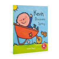英文原版 Kevin In Spring 凯文在春天 低幼绘本 0-6岁 儿童图画书 亲子阅读