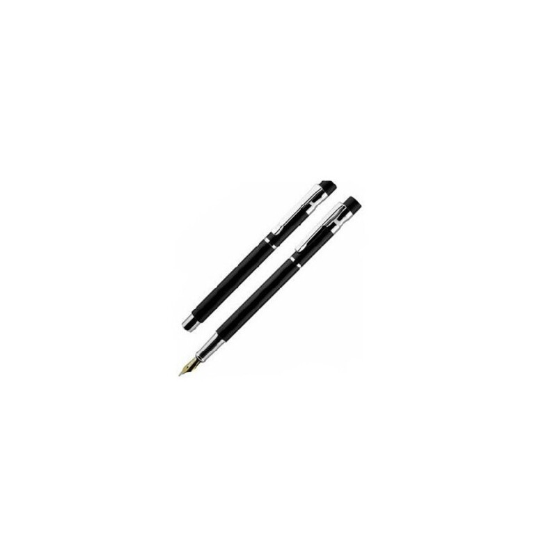 花花公子钢笔 亚诺系列钢笔 纯黑丽雅白夹墨水笔 财务笔 学生钢笔