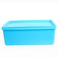 卡秀 大号炫彩 整理箱 储物箱 收纳箱 化妆盒 杂物盒 衣物整理盒-蓝色(KX623-1)