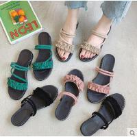 凉鞋女鞋一鞋两穿坡跟平底百搭潮款ins潮仙女风学生网红夏季