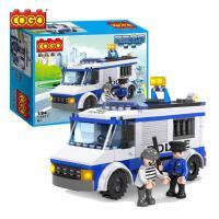 积高积木城市警察军事系列拼插儿童男孩益智拼装玩具 生日礼物
