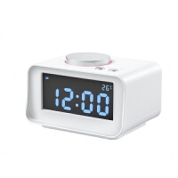 2018新款 K1酒店床�^�[�音箱USB手�C充� 收音�C LCD�睡�子�r�
