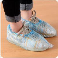 家用一次性鞋套 加厚环保家居塑料鞋套防尘防滑鞋套100只装