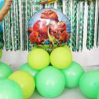 恐龙主题气球套餐男孩生日儿童派对布置品宝宝周岁背景墙创意装饰