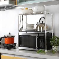 幽咸家居 多用厨房微波炉架子置物架电器层架支架不锈钢伸缩调节收纳架