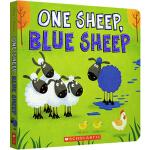 One Sheep Blue Sheep 幼儿启蒙数字颜色分辨认知 趣味纸板洞洞书