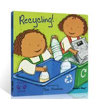 英文原版进口绘本 Helping Hands Recycling 好帮手系列 环保 child's play 吴敏兰推