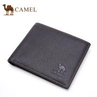 Camel骆驼钱包 男士钱包时尚商务钱夹票夹休闲短款牛皮夹票夹男