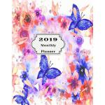 预订 2019 Monthly Planner: Beautiful Organizer Schedule Backg