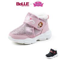 【到手价:169.2元】百丽&迪士尼联名款童鞋儿童靴2019冬季幼童高帮加绒保暖女童(2-10岁可选)DE1128