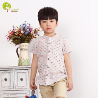 【当当自营】贝康馨 BabyComfort 韩版童装男童方格短袖纯棉衬衫 2016夏季新款儿童衬衣