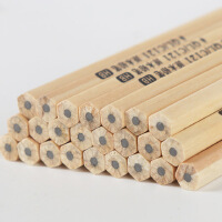 包邮原木铅笔六角无铅无毒儿童小学生写字文具HB原木铅笔50支六角创意木质儿童笔环保木头铅笔