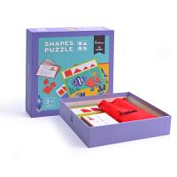 弥鹿(MiDeer)儿童益智玩具几何思维训练木质拼图3-6-10岁