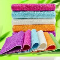 20条装纤维洗碗巾抹布纤维抹布厨房清洁布 颜色随机