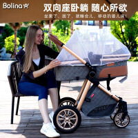 婴儿高景观轻便可坐可躺折叠避震双向宝宝新生儿童推车