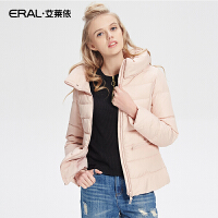 ERAL/艾莱依秋冬时尚韩版立领羽绒服女短款修身显瘦12002-EDAA
