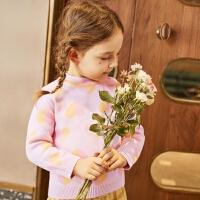 【清�}�r折后2.2折】巴拉巴拉旗下�R卡�吠��b冬季新款毛衫男女童�A�I萌趣�坌�D案��衫