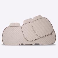 Mubo牧宝汽车纯亚麻坐垫小三件负离子添加免捆绑三件套坐垫四季通用防滑MSJ-W1708