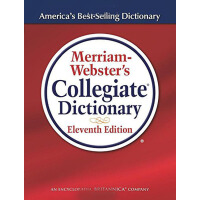 英文原版 Merriam-Webster's Collegiate Dictionary (Laminated Cover) 韦氏大学词典