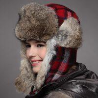 kenmont兔毛雷锋帽女皮草帽冬季帽子冬天户外帽滑雪帽雷锋帽棉帽2132