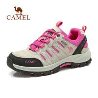 Camel骆驼 户外登山徒步鞋 女士新款低帮系带防滑耐磨户外登山徒步鞋