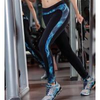 印花拼色 健身瑜伽裤高弹力九分 跑步运动裤紧身长裤速干女  支持礼品卡