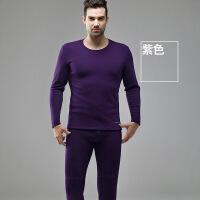 保暖内衣 新品 男士不倒绒加厚加绒圆领套装P374927