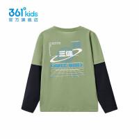 【秒杀叠券预估价:83】361度童装男童长袖针织衫2021春季新款中大童儿童长袖针织衫