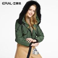ERAL/艾莱依冬轻薄长袖连帽修身羽绒服女韩版短款12024-EDAA